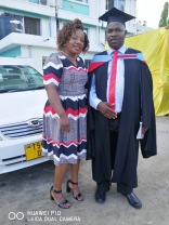 Daniel Chimutu Graduation Day with Mary